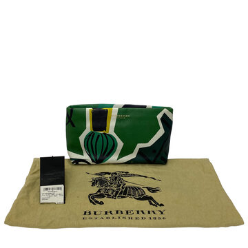 Clutch Burberry Colorida Verde