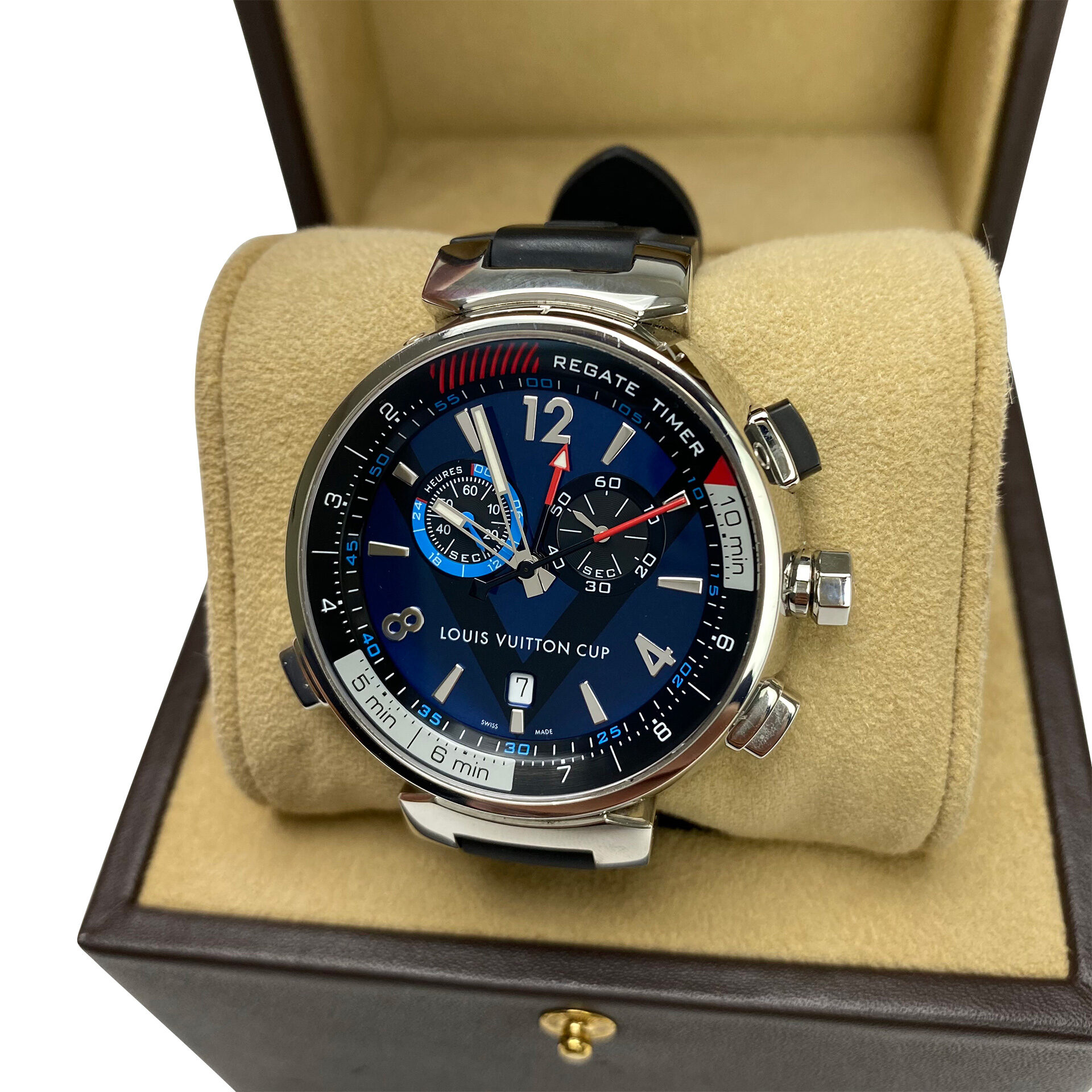 Relógio Louis Vuitton Tambour Regatta Navy 44